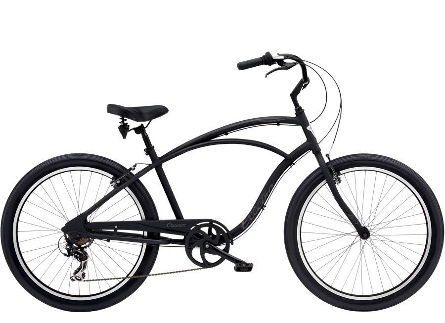 Electra Cruiser Lux 7D Step-Over 26  Matte Black